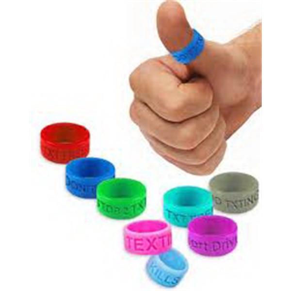 Silicone Thumb Rings Debossed Or Embossed