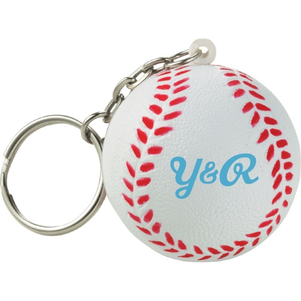 Homerun - Polyurethane. Squeezable Foam Baseball With Keychain Photo