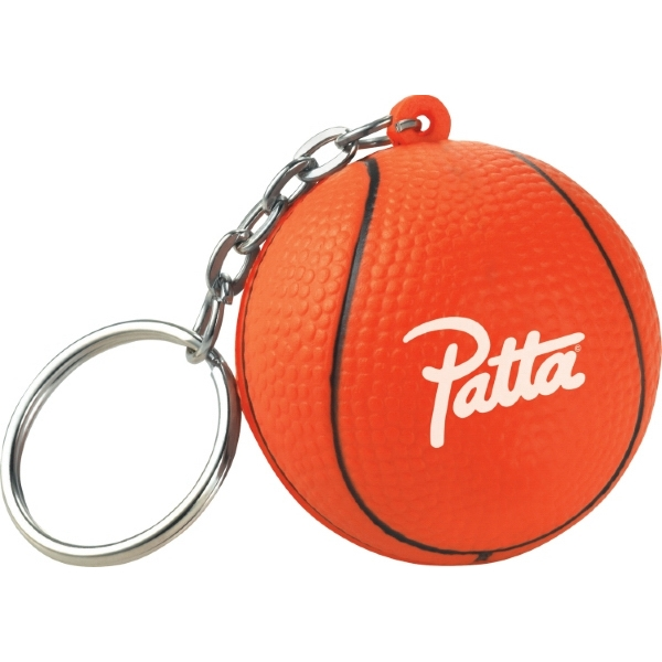 Slamdunk - Polyurethane. Squeezable Foam Basketball With Keychain Photo