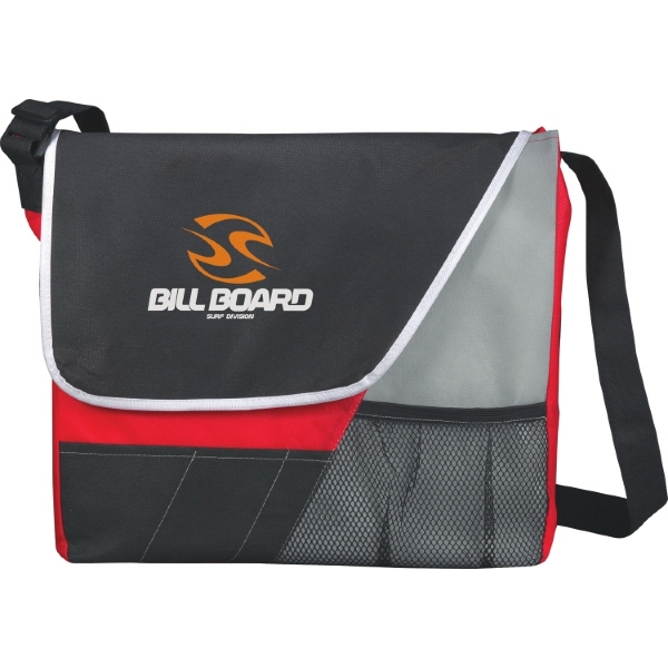 Rhythm - Messenger Bag With A Velcro Flap Closure And Front Accessory Pocket Photo