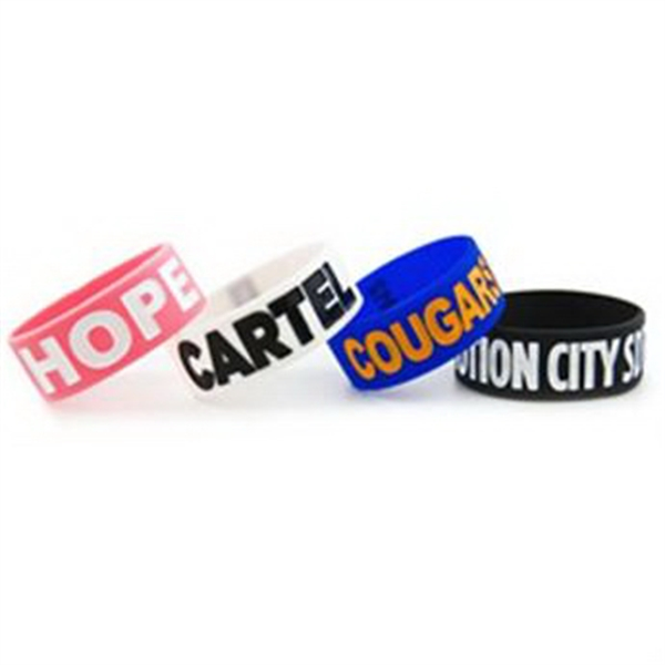 Chunky Wristbands Debossed with Color Fill