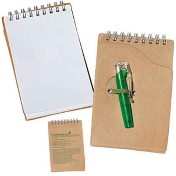 Elm - Recycled Jotter Pad With Pen Photo