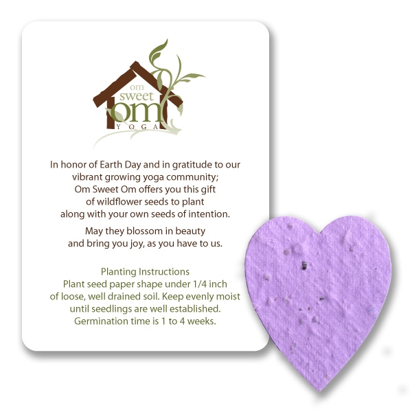 Heart#1 Mini Gift Pack With Seed Paper