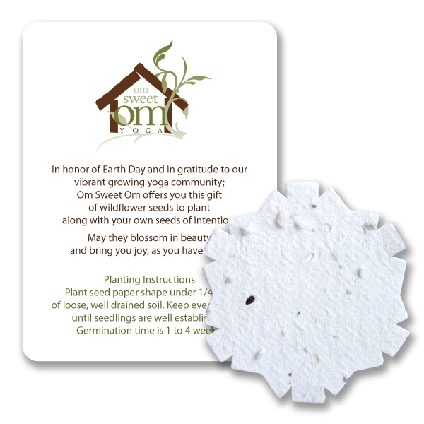 Snowflake2 Mini Gift Pack With Seed Paper