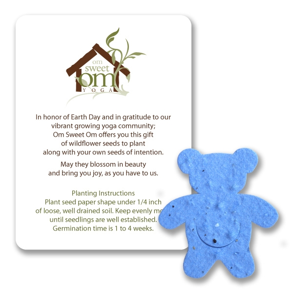 Teddy Bear Mini Gift Pack With Seed Paper