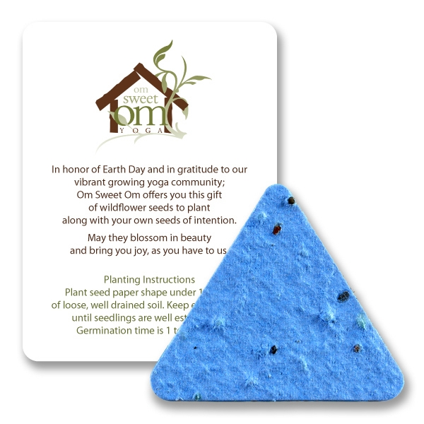 Triangle Mini Gift Pack With Seed Paper
