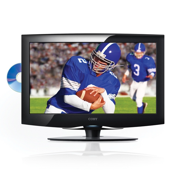 "19"" Lcd High-definition Tv With Dvd Player, Usb/sd Card Slots, Av/vga Connections Photo"