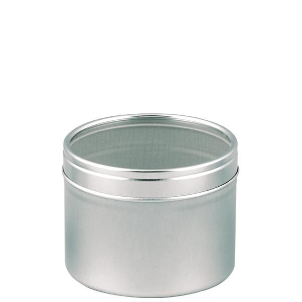 Metal Tin With Clear Plastic Window Lid, Holds 4 Oz Photo