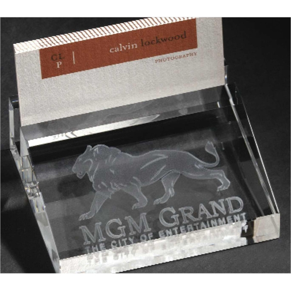 Optical 3d Crystal Business Card Holder Photo