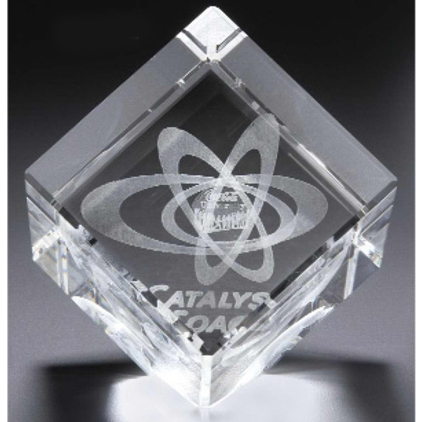 Optical 3d Crystal Jewel Cube Photo
