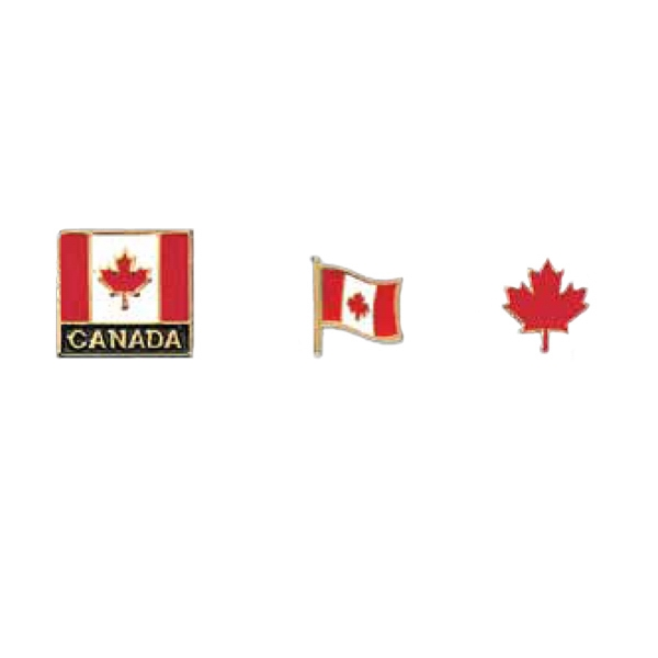 "7/8"" X 3/4"" Canada Lapel Pin Photo"