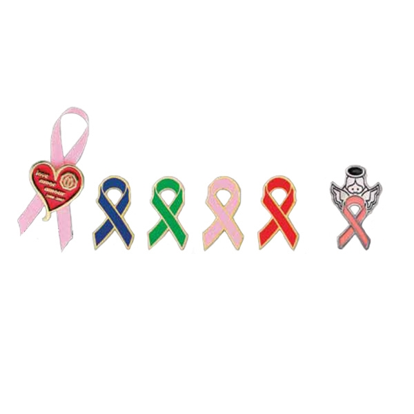 "1 1/8"" Awareness Ribbon Lapel Pin Photo"