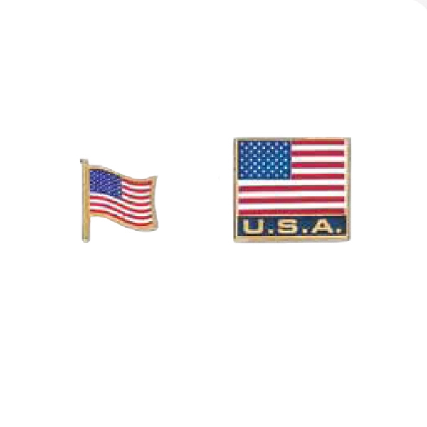 "7/8"" X 3/4"" Usa Lapel Pin Photo"