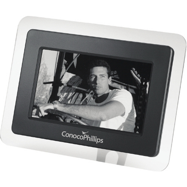 "Desktop Digital, 7"" Lcd Screen, Photo Frame Made Of Black Abs Plastic Photo"