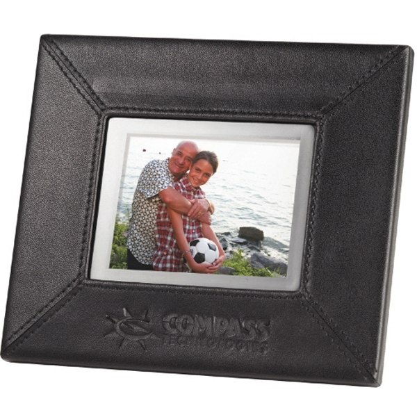 "3.5"" Leather Digital Photo Frame Photo"