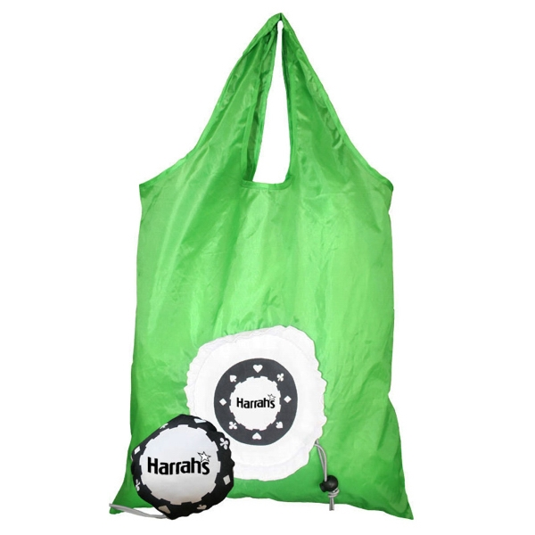 Morph - Tote Bag Morphs Into Poker Chip Drawstring Pouch Photo