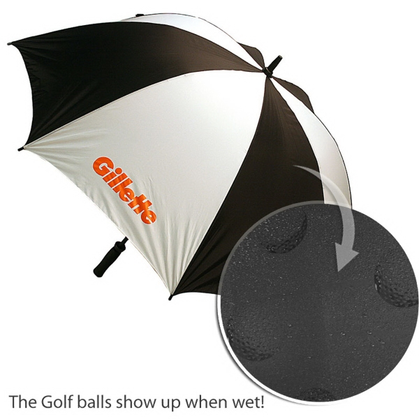 "Golf Ball Design Umbrella, 62"" Arc Photo"