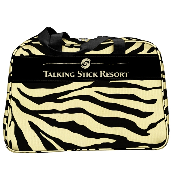 Zebra - Duffel Bag With Front Zippered Pockets Photo