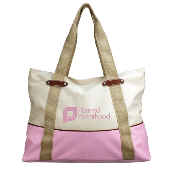 Chino - Tote Bag With Zippered Closure, Fully Lined, Zippered Closure Photo