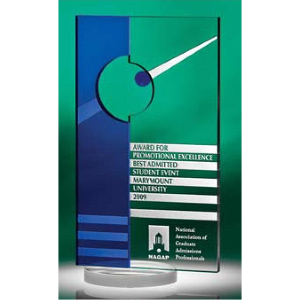Meddakai - Clear And Blue Optic Crystal Award Combine Aesthetic Forces Photo