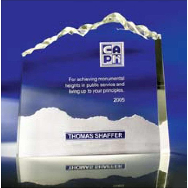 Optic Mountains - Small - Award Made Of Heavy Optic Crystal Tells A Story Of Those Who Tower Above The Rest Photo