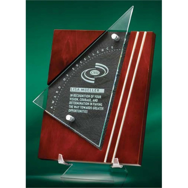 Premiera - Plaque Award Maintains Warmth Through Us Of Cherry Stained Wood And Black Leather Photo