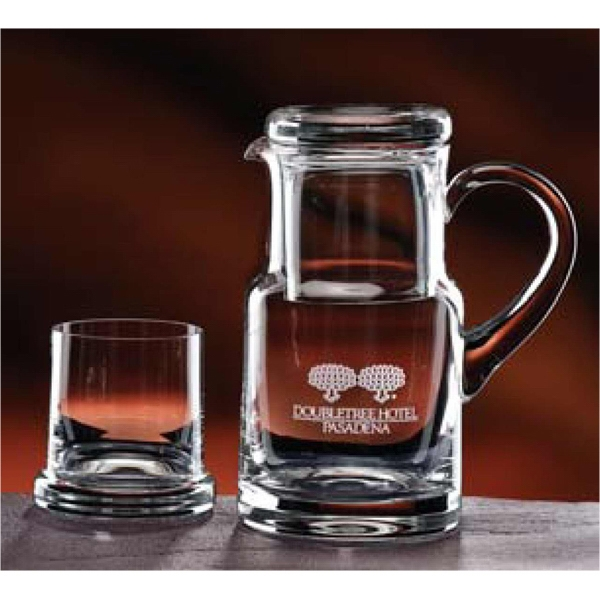 Executive - Each Mouth-blown Water Set Consists Of One 28 Oz Pitcher And An 8 Oz Tumbler Photo
