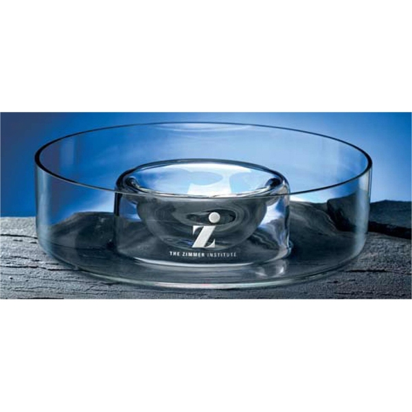 Chip & Dip - Hand-blown And Very Heavy, This Bowl Boasts A Large Capacity Photo