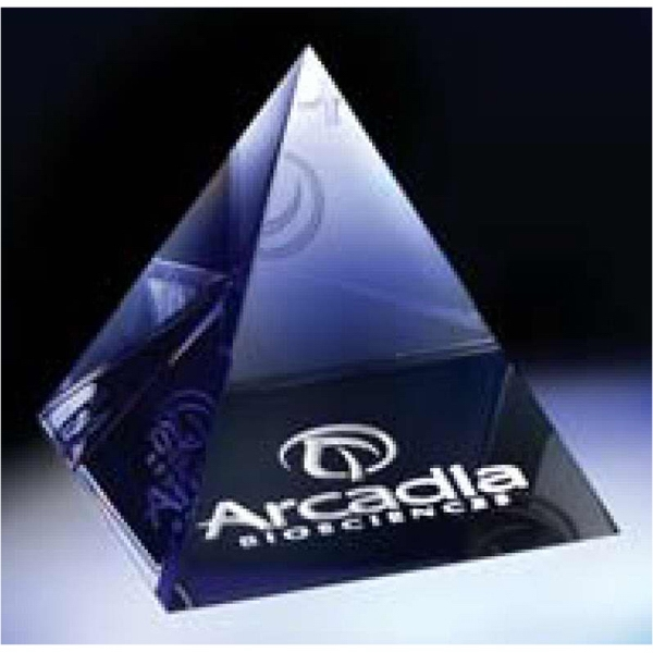Optic Crystal Pyramid Paperweight Is The Perfect Medium For Paying Homage Photo