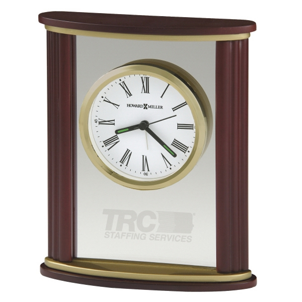 Victor - Wood And Glass Alarm Clock With Rosewood Finished Sides Photo