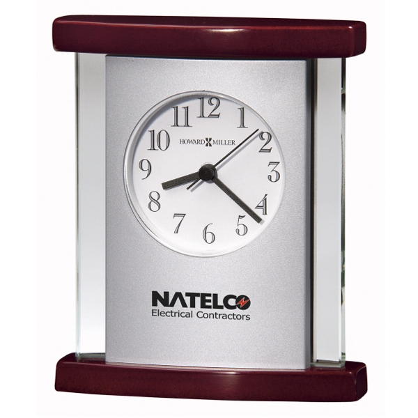 Hyatt - Quartz Movement Clock With High Gloss Rosewood Finish Curved Top And Base Photo