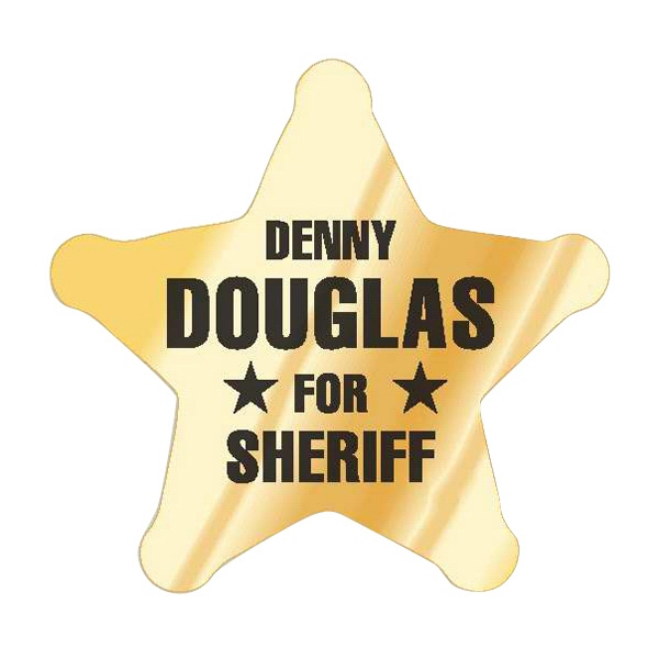 "2 3/4"" X 2 1/2"" Sheriff's Star Flexo Printed Recognition Labels On A Roll Photo"