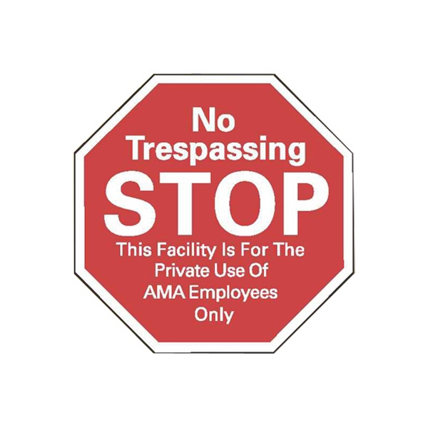 "3"" X 3"" Stop Sign White Reflective Security Decal Photo"