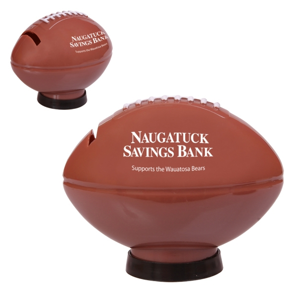 Football Shaped Bank With A Bottom Removable Cap Photo