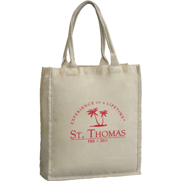 6 Oz. Cotton Canvas Tote With Fancy Handles And Gusset Photo