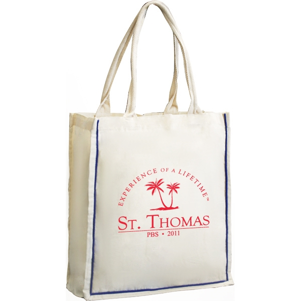 6 Oz Cotton Tote Bag With Fancy Handles Photo