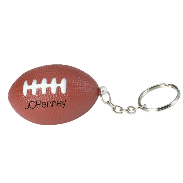 Stress Reliever Key Chain With Sport Stress Ball Attached Photo