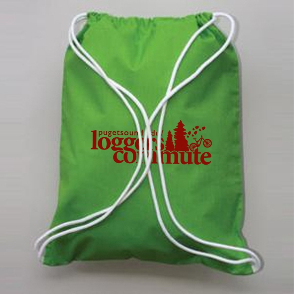 6 Oz. Cotton Drawstring Tote Photo