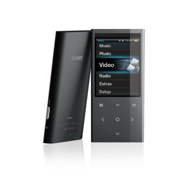 "2.4"" Touchpad Video Mp3 Player With Speakers, 4 Gb Photo"