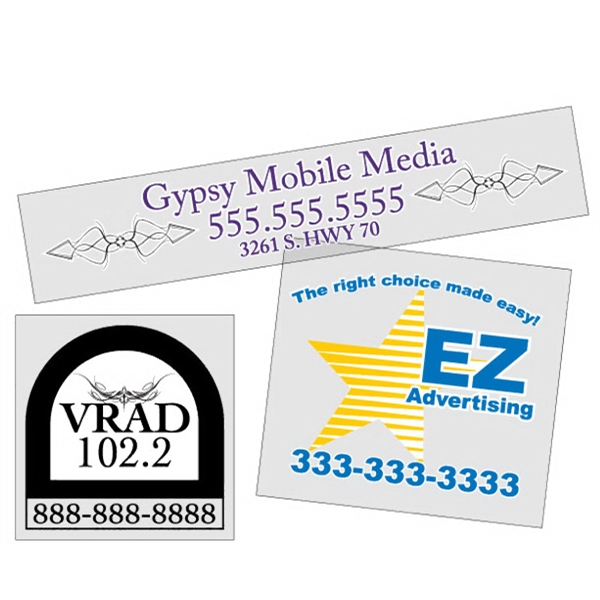 5 Sq. Inches Or Less - Custom, Square-cut Clear Polyester Decal With Back Adhesive Photo