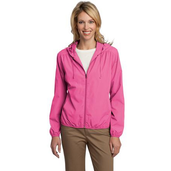 Port Authority (r) Essential -  X S- X L - Ladies' Lightweight Hooded Jacket With Simple Classic Styling Photo