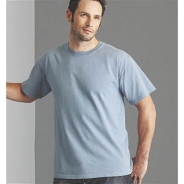 Embroidered men's cotton short sleeve t-shirt