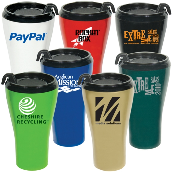 Double Wall Plastic 16 Oz. Travel Tumbler Photo