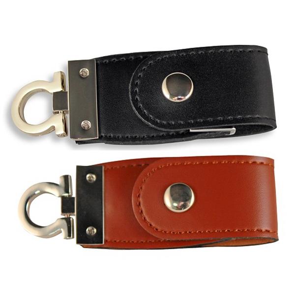 Mini Leather Web Key