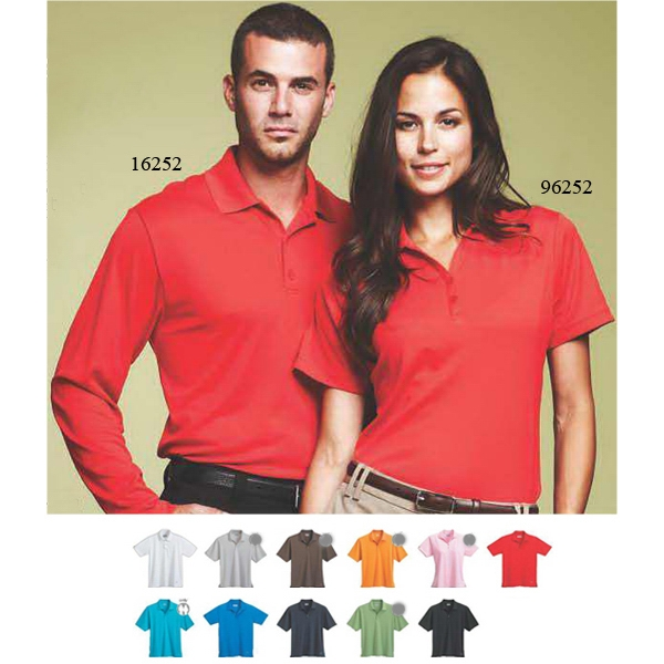 Moreno - Blank - Women's Flat Knit Collar Polo Shirt Photo