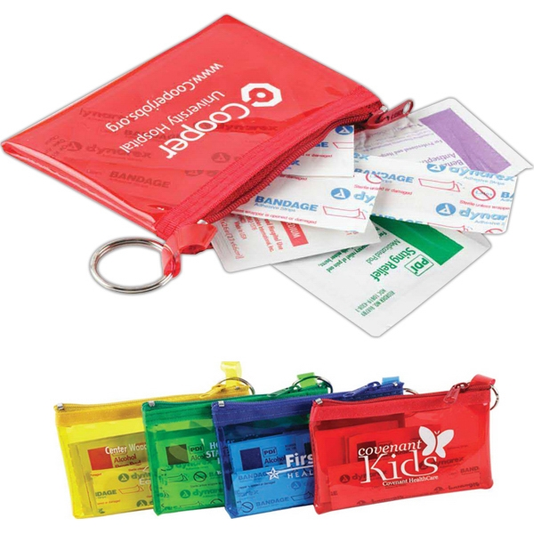 The Rainbow - Colorful First Aid Kit With 3 Bandages, 3 Sterile Alcohol Pads And More Photo