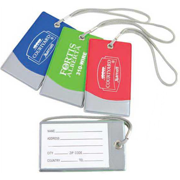 Bright Spot - Luggage Tag In Bright Vinyl Colors Accented With Silver Trim Photo