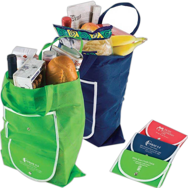 Supermarket Shopper - Extra Large Folding Shopping Bag With A Convenient Built-in Vinyl Snap Case Photo