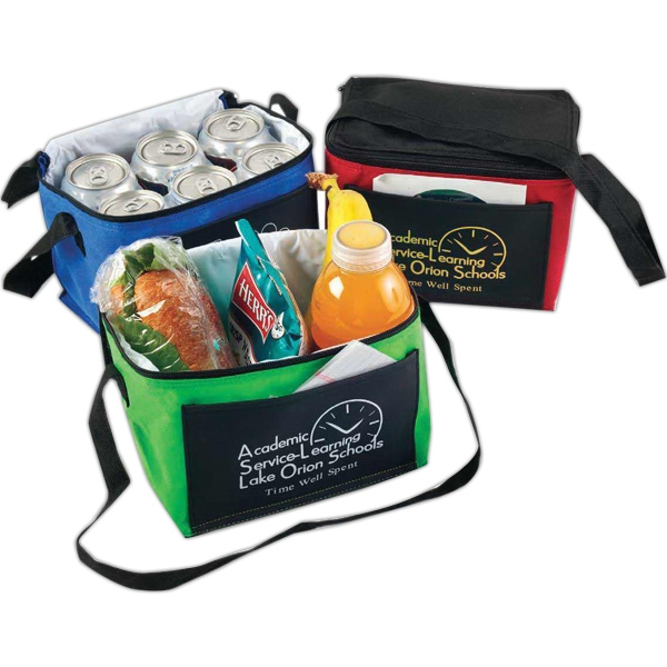 Kool It - Non-woven Insulated Lunch Bag With Black Top, Back, And Bottom Photo