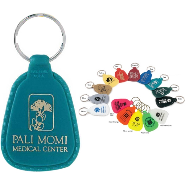 Colorama - Tear Drop Shape Key Tag With Tempered Spring Steel Split Ring Photo